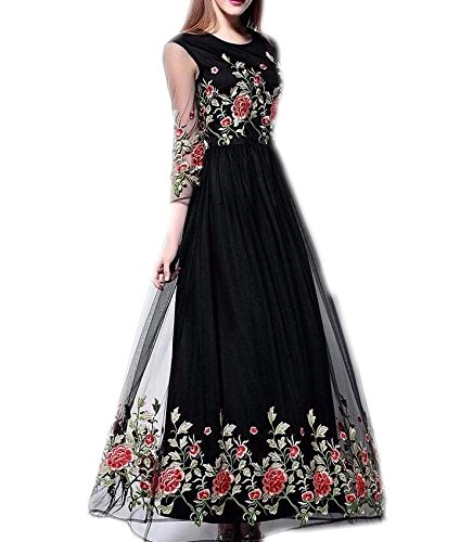 Vaankosh Fashion Women\'s Net Dress Material (vaank1.31_black)