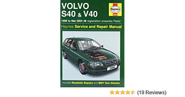 volvo s40 and v40 petrol 1996 2004 haynes service and repair rh amazon co uk 2004 Volvo S40 Volvo S80