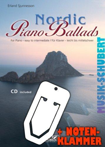 Nordic piano Ballads (+ CD), con pratica clip-17wunderschoene sognante Melodie per pianoforte a Moderato impostato (broschiert) (Banconote/holzweißig)
