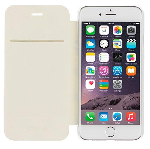 Caseit Etui Folio pour iPhone 6 - 12 cm - Pois Pois Crème/Doré