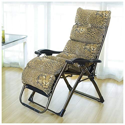 ZYFTYI Tragbare Bett Sitzsack Klappstuhl Sessel Sofa Büro Pause Sleeper Liegestuhl Ruheliege Tiger Muster, Kann 250 Kg tragen (Color : Braun) -