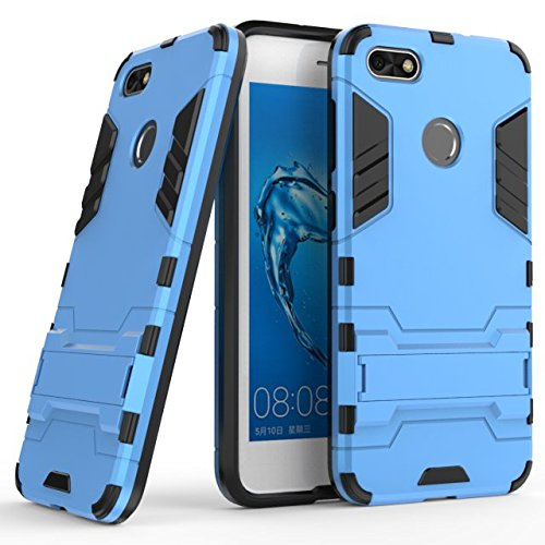 Huawei Y6 Pro 2017 case,Stylish cover GOGME [Tough Armor Series]Rugged TPU/PC Hybrid Armor, Anti-Scratch PC back panel + Shockproof TPU bumper+Foldable holder,Ultra-thin phone shell for Huawei Y6 Pro 2017 . blue