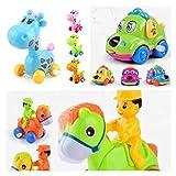 #10: Cartoon Cars - Set of 3 - Giraffe, Horse and Dog Car