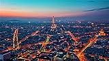 ZZXSY Puzzle 1000 Pezzi Passatempo per Adulti Night in Paris Tour Eiffel, City, Lights per Bambini Presenti in Famiglia