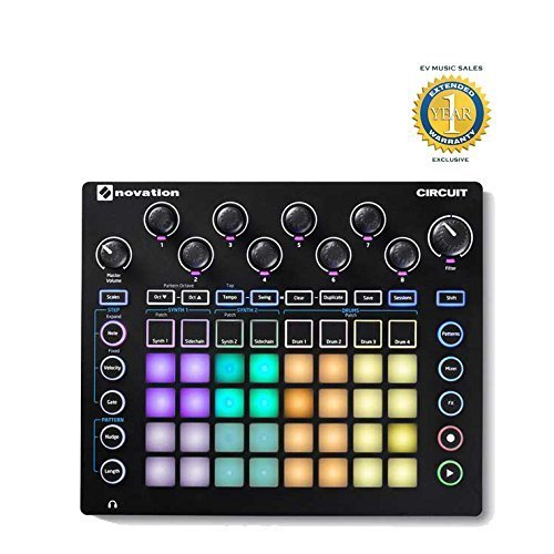 Novation Schaltung Drum Machine, Pad-Controller Grid-basierte Groove Box