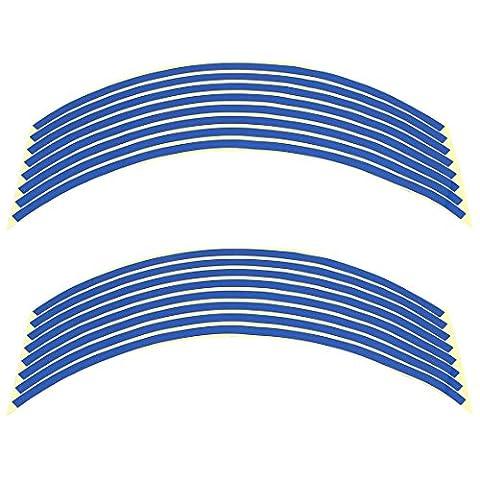 """sourcingmap® Bande réfléchissante adhésif autocollant Rim décor bleu pour 18"""" Roue"""
