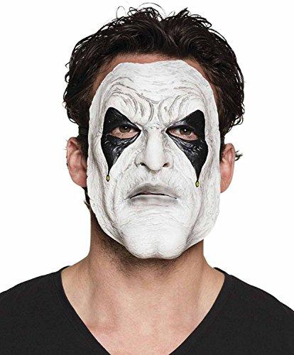 Gruselige Psycho Clown Kostüm - Boland 97561 Maske Pierrot, One
