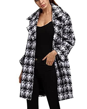 damen faux wollmantel winterjacke dick warm lang wintermantel bergangsjacke trechcoat 3xl. Black Bedroom Furniture Sets. Home Design Ideas