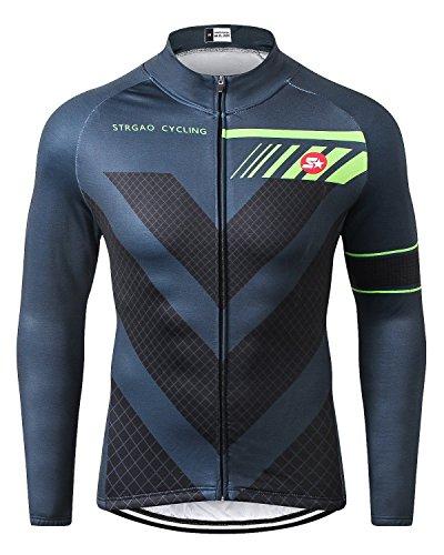 STRGAO 2017 MTB Mountainbike Long Sleeves Cycling Jacket Lange Ärmel Trikot Radfahren Fahrradkleidung Winddicht Bike Jersey Größe - 2x ärmel Lange
