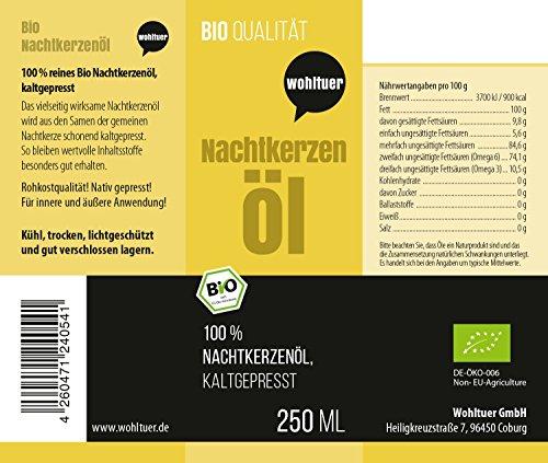 Wohltuer Bio Nachtkerzenl 250ml Nativ Gepresst Und 100 Rein Natur Pur