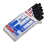 Edding 3000-001 - Paquete de 10 marcadores permanentes, color negro