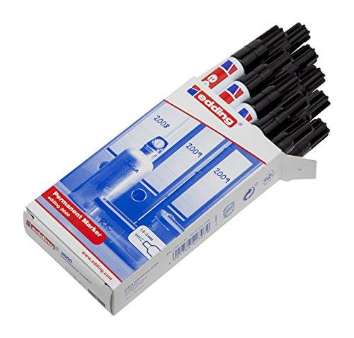 Edding 3000-001 - Marcador permanente, 10 unidades, color negro width=