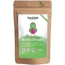 BodyShape Tee für 14-Tage-Kur, 100% natürlich: Grüner Tee, Mate und Ingwer bzw. Brennesseltee zur Begleitung einer Diät, Fasten- und Reinigungskur, 60g Kräutertee aus Deutschland