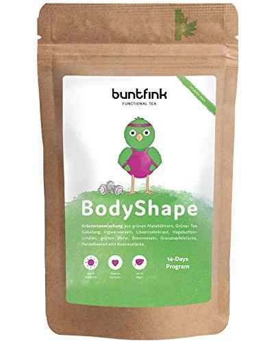 """""""BodyShape"""" Tee von Buntfink, 100% natürlich: Grüner Tee Gabalong + Mate + Ingwer + Brennesseltee, 60g Kräutertee aus Deutschland"""