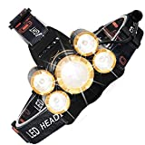 Head Torch Led Headlamp,Super Bright Zoomable Flashlights 4 Modes CREE Headlight Waterproof USB Rechargeable Batteries 8000 Lumens for Outdoor Adventure Camping Cycling Fishing Walking Running Hiking