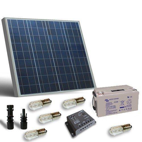 PuntoEnergia Italia - Kit solar votivo 50W placa panel regualdor de carga lampara votiva batería 22Ah - KV-50-B22