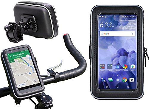 Preisvergleich Produktbild Navitech Wasserfeste Fahrrad und Motorrad Halterung Montierung und Case für das HTC U11 Life