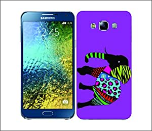 Galaxy Printed 2484 Neon Animal Silhouettes Elephant Hard Cover for Samsung CORE PLUS