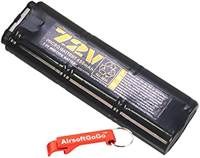 WELL 7.2v 450mAh NI-MH Micro Bater?as para MP7 / R4 Serie AEP - AirsoftGoGo Llavero Incluido