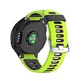 NotoCity Bracelet de Remplacement Compatible Garmin Forerunner Montre Fitness Tracker Silicone Souple Bracelet de Sport Compatible Garmin Forerunner 230/235/620/630/735XT