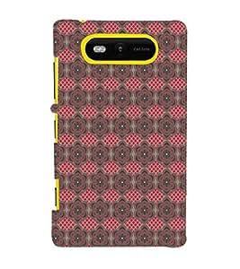 EPICCASE excited flowers Mobile Back Case Cover For Nokia Lumia 820 (Designer Case)