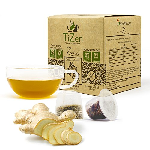 80 CAPSULE TiZen - Tisana in foglie con Zenzero, Lemongrass e Salvia in capsule compatibili nespresso*