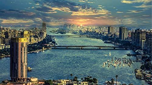 Nils Seide (Tapete Wandbild Der Fluss Nil In Kairo Für Home Office Tv Wand Hintergrund Dekoration Seide (W)500x(H)280cm)