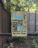 qidushop Schild zur Geburt eines Jungen, Subway-Kunst, wiederverwertet, lustiges Zitat, für Damen und Herren
