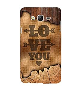Love You Design 3D Hard Polycarbonate Designer Back Case Cover for Samsung Galaxy On5 :: Samsung Galaxy On 5 G550FY