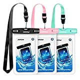 Mpow Waterproof Case 3 Packs, IPX8 Underwater Dry Bag Waterproof Pouch with Portable