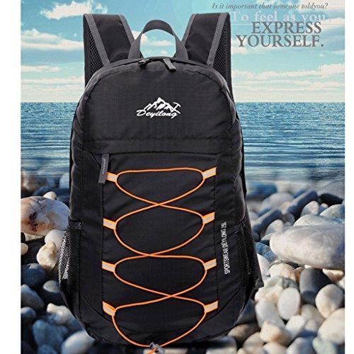 Ali autentico ultraleggero all'aperto pieghevole sacchetto di pelle spalla portatile borsa da viaggio impermeabile esterna di alpinismo nero
