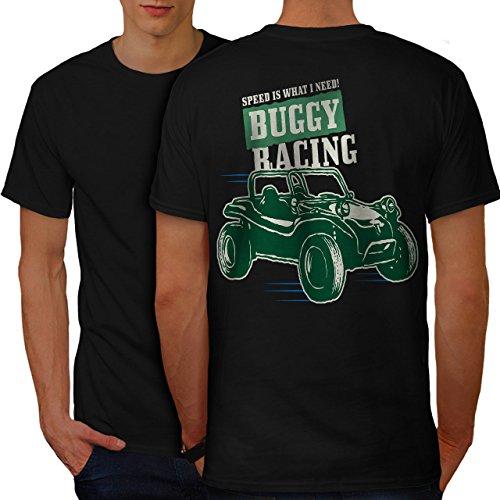 wellcoda Buggy Rennen Männer M Ringer T-Shirt