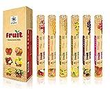 Chakra Series Fruit Sticks 120 Fragrance - Sticks Premium Quality incenso naturale - confezione da 6 - lunga durata Joss bastoni - Migliorare la qualità della vostra vita con i bastoni Profumo