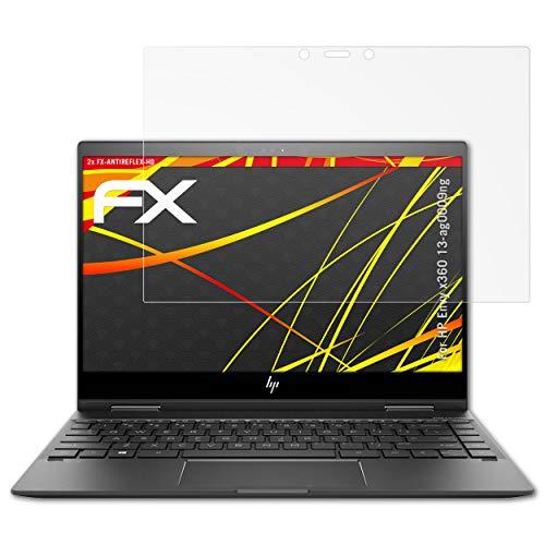 atFolix Schutzfolie kompatibel mit HP Envy x360 13-ag0009ng Bildschirmschutzfolie, HD-Entspiegelung FX Folie (2X)