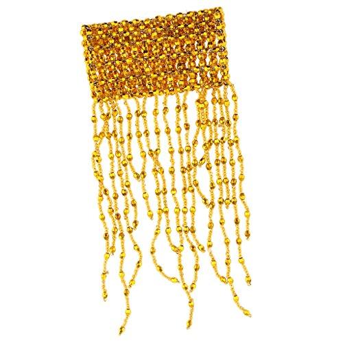 MagiDeal Bauchtanz Armband Perlen Fransen Armkette Handgelenk Schmuck Für Mädchen Damen, Gold/Silber - Gold (Verkauf Bauchtanz Kostüm)