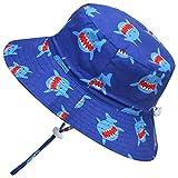 Adorel Cappelli da Sole Mare Anti-UV per Neonati e Bambini Squalo Blu 2-4 Anni (Dimensioni del Produttore: 52)