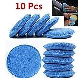 """WildAuto - Mikrofaser Wachs Applikator - Auto Schaum Wachs Schwamm Applikator Pads - blau (5 """"Durchmesser, 10 Stk)"""