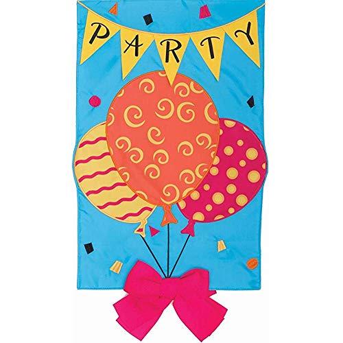 YEATRY Party-Ballons - Gartengröße, 30 X 45 cm, Dekorative, Beidseitig Applizierte Flagge, Gestickt, Lizenz, Urheberrechte, Warenzeichen Von Custom Decor Inc. -