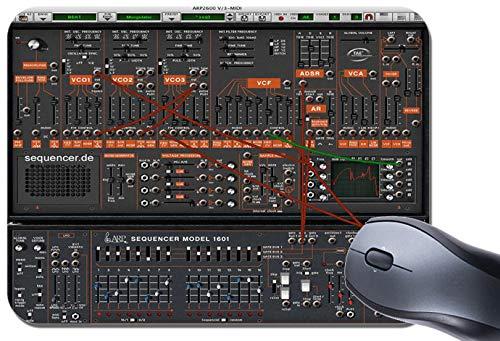 Klassische ARP Synthesizer Mauspad. Retro ARP Mauspad