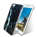 Funda iPhone 8, Funda iPhone 7, Veotech iPhone 7 Case Mármol iPhone 8 Case Alta Calidad Anti-Rasguño Protectora Silicone Caso para iPhone 8 y iPhone 7 - mármol negro