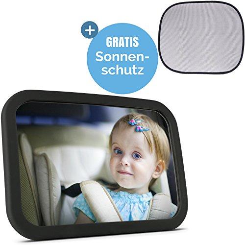 Babyspiegel für's Auto + Sonnenschutz | Rücksitzspiegel für Babys - Autospiegel - Rückspiegel für's Baby