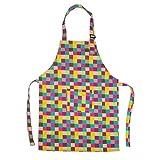 Opromo (precio/6piezas) colores lona de algodón niños delantales con bolsillo, artista delantal y delantal de chef (S, M, L, XL y XXL) - Púrpura -