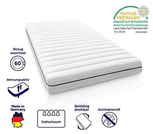 Mister Sandman ergonomische 7-Zonen-Matratze für alle Schlafpositionen – Kaltschaummatratze H2/H3, Premium Doppeltuchbezug, Gesamthöhe ca. 15cm, 140x200 cm H2&h3