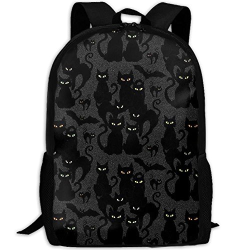 lloween Cats Eyes On You Laptop Backpack School Backpack Bookbags College Bags Daypack Black Casual Leisure Backpack Swagger Bags Rucksack ()