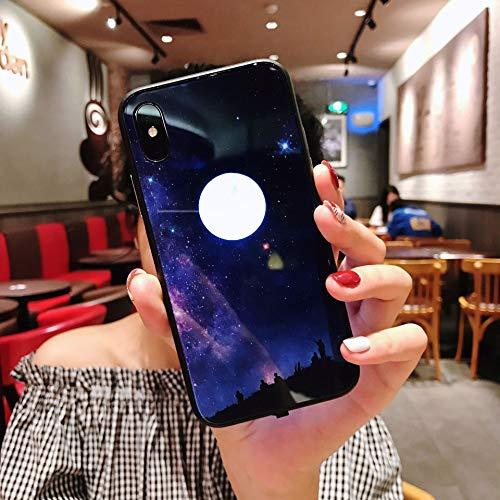 MINGRONG Telefon Fall Stoßdämpfung Led-Licht iPhone Fall Schutz Telefon Abdeckung für iPhone 6 / 6P 6S / 6SP 7/8 7P / 8P X/XS XR XS MAX (Eine Vielzahl von Stilen) (Musik-fällen Sechs Iphone)