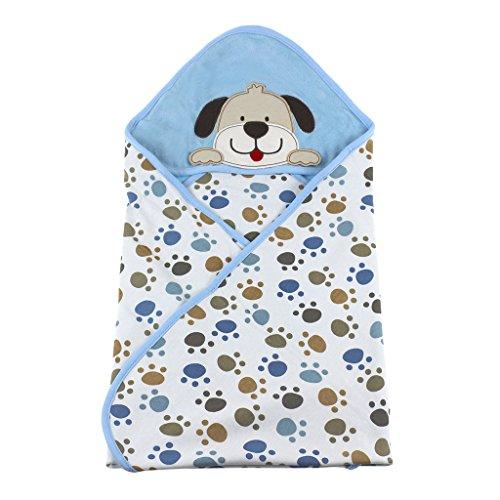 Preisvergleich Produktbild Vine Sommer Baby Decke Kuscheldecke Baumwolle Stickerei Stickerei Haube Neugeborene Wearable Decke Baby Schlafsack Baby Badetuch Kapuze,75*75CM-Hunde