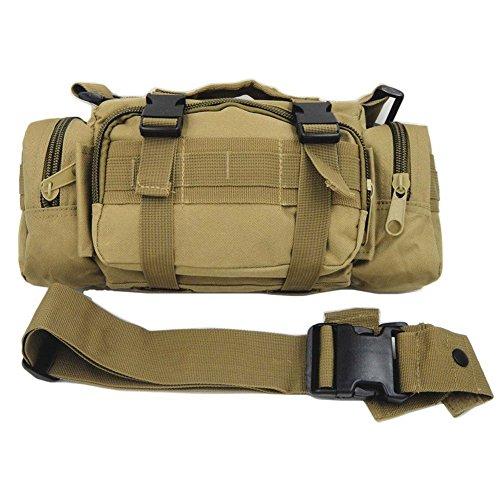 DLP Tactical Compact Range Bag/MOLLE-kompatible EDC Bug Out Bag/Taillentasche, Coyote (Tactical Bag Range)