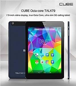 Cube Talk 79 U55GT -7.9 pouces IPS écran MTK8389 Quad Core 3G Phone Tablet Android 4.2 3G WCDMA GPS Bluetooth 16GB double caméra 5MP Argent