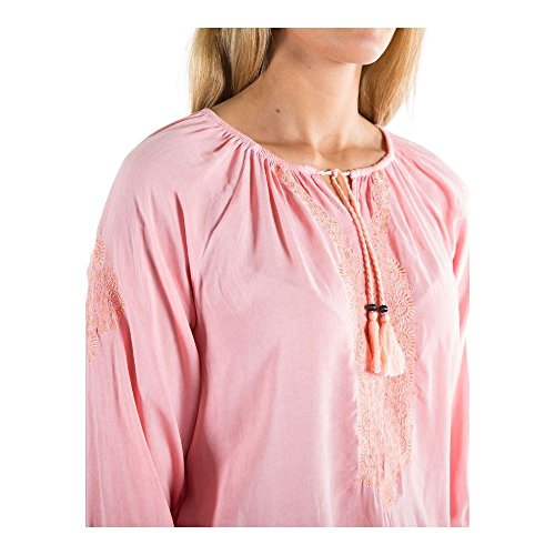 Timezone Damen Bluse Boho Tunic cream rose