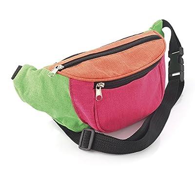 Sac de taille multicolore en toile de tissu avec sac banane ceinture de hanche